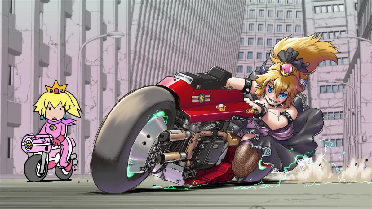 クッパ姫バイク